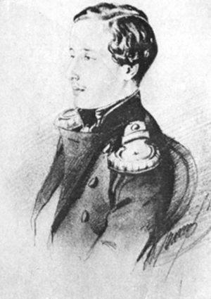 Александр Пушкин. Рисунок Н. П. Ланского. 1851