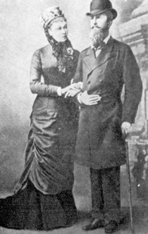 Наталья Александровна Меренберг с мужем принцем Николаем Вильгельмом Нассауским, фото 1880-е годы