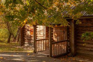 Болдинская осень. Надворные постройки. Банька. . Красивые осенние фото