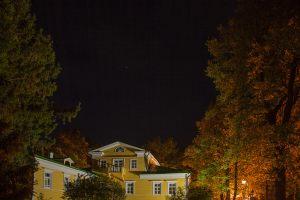 Большое Болдино. Ночное фото усадьбы Пушкина