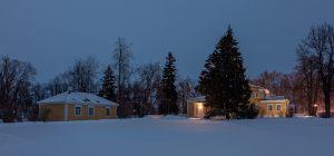 Болдино. Ночные зимние фото. Надворные постройки