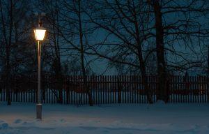 Болдино. Ночные зимние фото. Фонарь