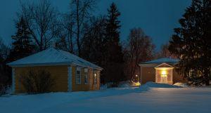Болдино. Ночные зимние фото. Надворные постройки. Господская кухня