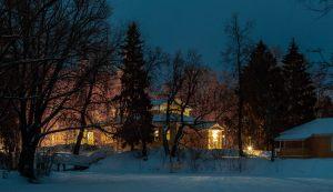 Болдино. Ночные зимние фото. Верхний пруд