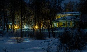 Болдино. Ночные зимние фото