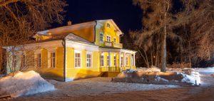 Болдино. Ночные зимние фото. Господский дом